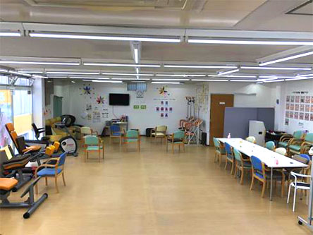 広々とした機能訓練室